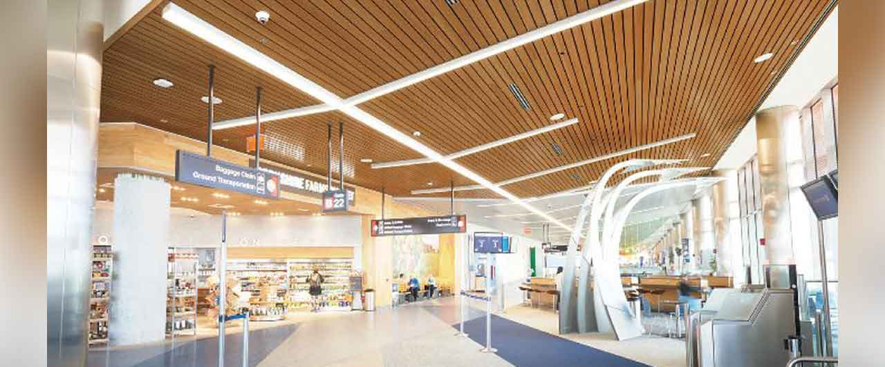 Wood Finish Linear Metal Ceiling System Dealer Price In